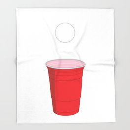 Beer Pong Illustration Throw Blanket