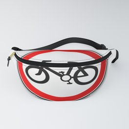 Cyclist Road Traffic Sign Fanny Pack
