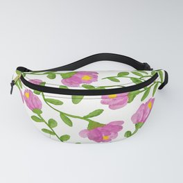 Simple Fresh Pinky Flowers Fanny Pack