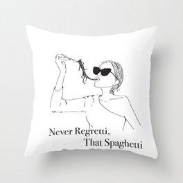 Never Regretti Throw Pillow