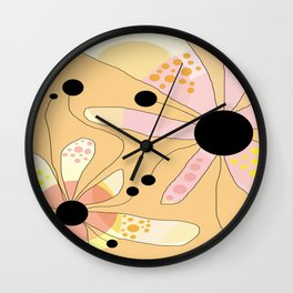 FLOWERY JOSIE / ORIGINAL DANISH DESIGN bykazandholly Wall Clock
