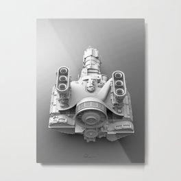 2.2T in white Metal Print