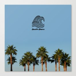 South Shore Palm Trees Design Canvas Print