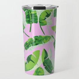 Banana Leaf (Pink) Travel Mug