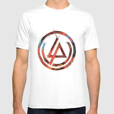 Link in Park  White Mens Fitted Tee MEDIUM