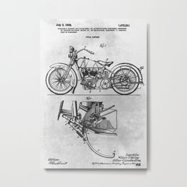 1928 Cycle support Metal Print