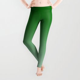 Green to Pastel Green Horizontal Linear Gradient Leggings