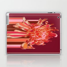 Contemporary Coral-Pink  Spider Mum Rain Art Laptop & iPad Skin