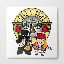 Slash and Axl Metal Print