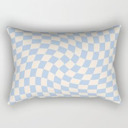 Check II - Baby Blue Twist Rectangular Pillow