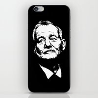 murray iPhone & iPod Skins featuring Bill Murray by Laura Lindsey