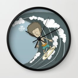 Surfer Boy Wall Clock