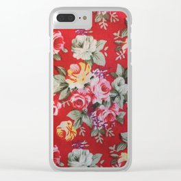 red floral Clear iPhone Case