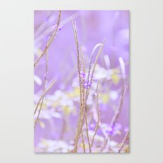 Gladness breathes from the blossoming ground. Canvas Print