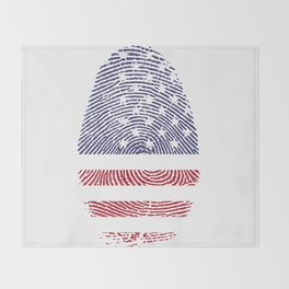 American Flag Thumbprint Throw Blanket