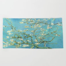 Vincent Van Gogh Almond Blossoms Beach Towel