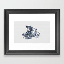 rickshaw bike Framed Art Print