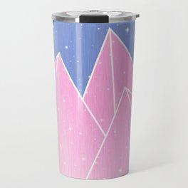 Sparkly Pink Crystals Design Travel Mug