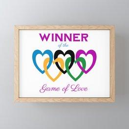 Game of Love Framed Mini Art Print