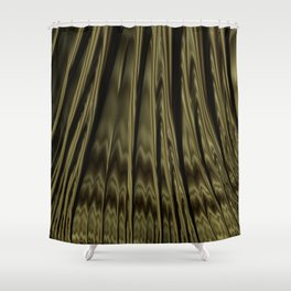 Gold and Black Fractal Shower Curtain