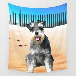 Schnauzer (Painting.) Wall Tapestry