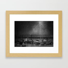 Harbour of Neuharlingersiel lower saxony Germany Framed Art Print
