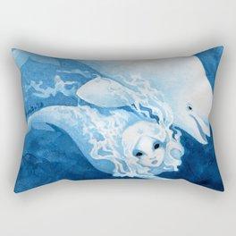 Beluga Mermaid Rectangular Pillow