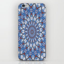 Seventeen Pointed Star In Red White and Blue iPhone Skin