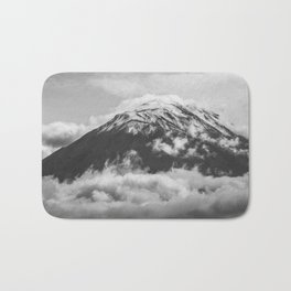 Volcano Misti Covered by Clouds Bath Mat