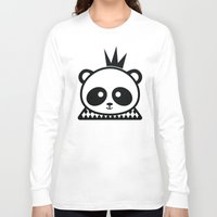 prince Long Sleeve T-shirts featuring Panda Prince by Inkroyable