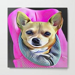 Pocket Chihuahua Metal Print