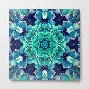 Turquoise Succulents Mandala by perkinsdesigns