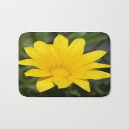 Bright Yellow Gazania Flower Bath Mat