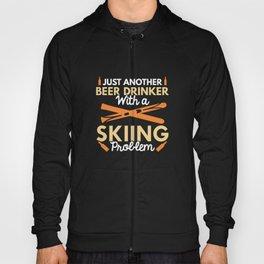 Beer Drinker Skiing Hoody