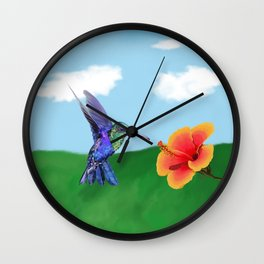 The very hungry hummingbird Wall Clock