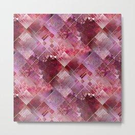 Marbleized Strawberry Metal Print