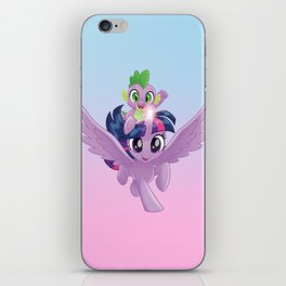 g4 my little pony Twilight Sparkle and Spike iPhone Skin