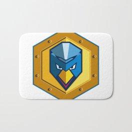 Cyber Punk Chicken Hexagon Icon Bath Mat