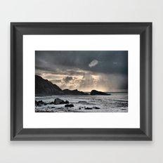welcombe beach Framed Art Print