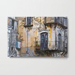Urban Sicilian Facade Metal Print