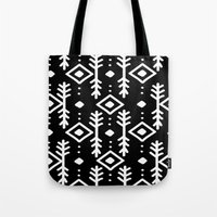 nordic Tote Bags featuring BLACK NORDIC by Nika
