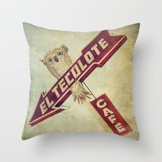 El Tecolote Cafe Sign Throw Pillow