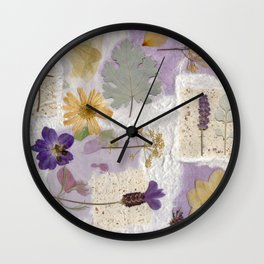 Lavender Collage Wall Clock