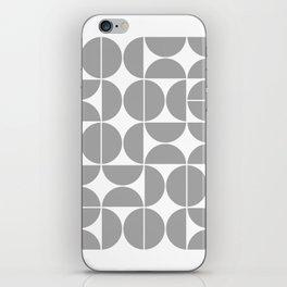 Mid Century Modern Geometric 04 Grey iPhone Skin