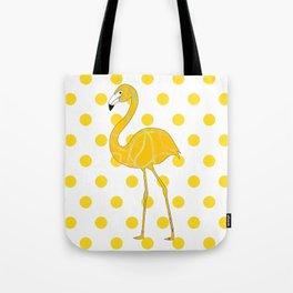 Yellow Flamingo  - Bird Tote Bag