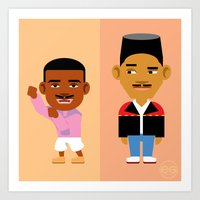 fresh prince Art Prints featuring The Fresh Prince by Evan Gaskin