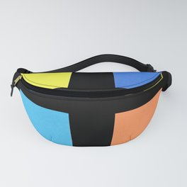 Squares in cross Fanny Pack