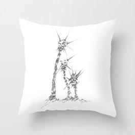 Thorny Meteor Stalks (part of the Strange Plants series) Throw Pillow