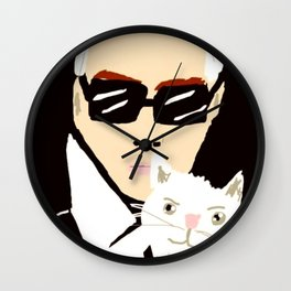 KARL & CHOUPETTE Wall Clock