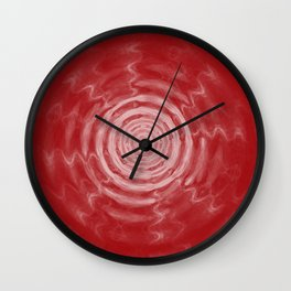 Ripples_Red Wall Clock